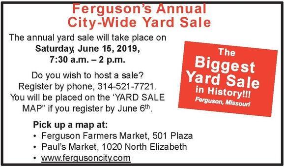 Jun 15 · Ferguson Annual City Wide Yard Sale — Nextdoor