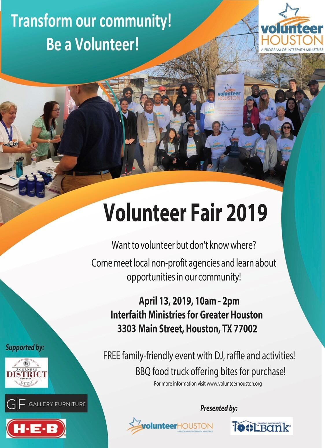 Volunteer Fair 2019 - Connect to Community Service Projects