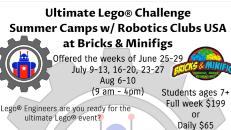 Jun 25 · Ultimate Lego Challenge Summer Camps w/ Robotics