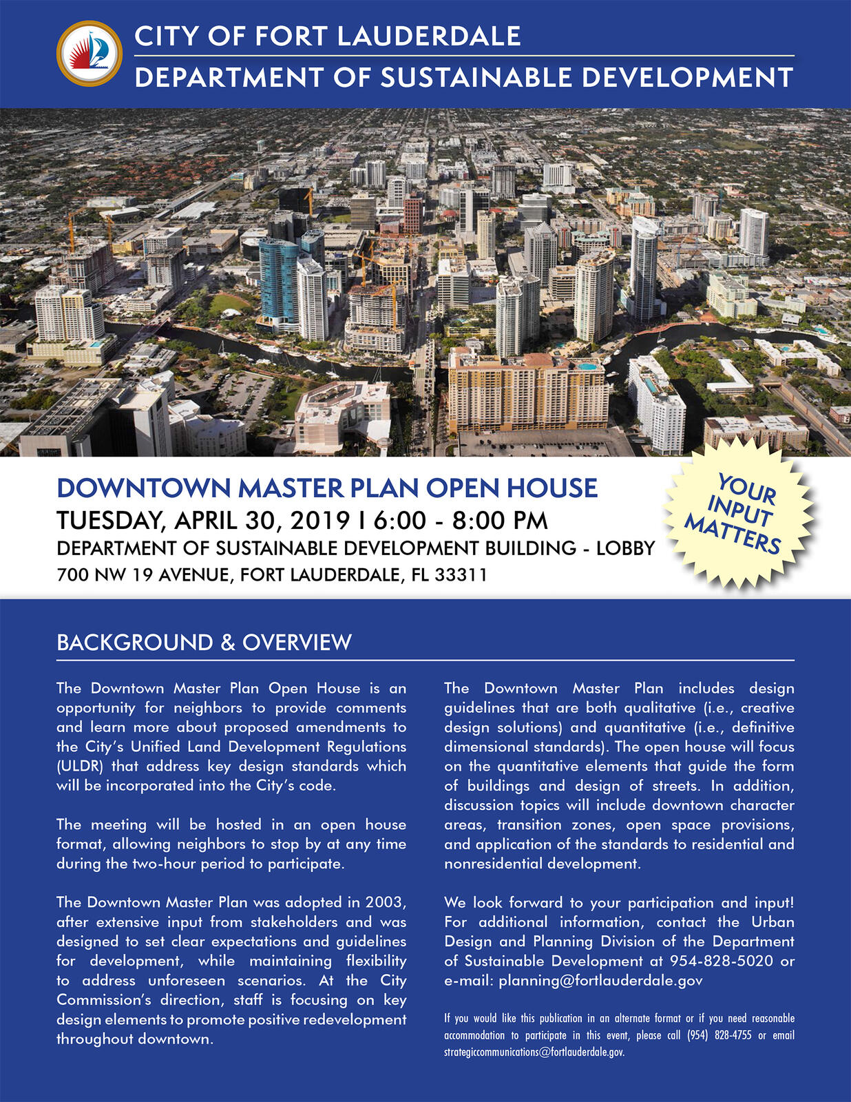 Downtown Master Plan Open House - April 30, 6-8 pm (City of