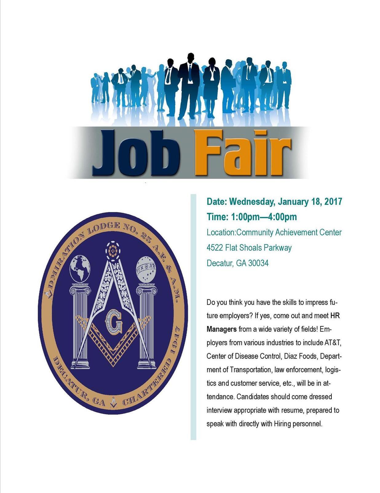 ADMIRATION LODGE #25 JOB FAIR (DeKalb County Police
