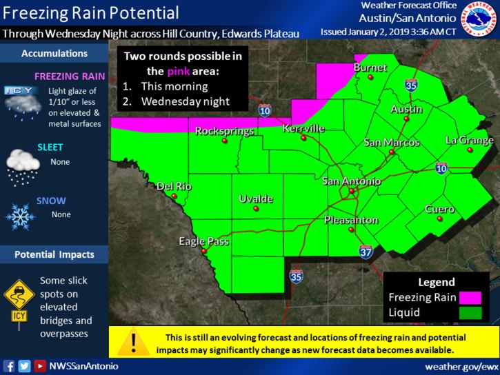 Flash Flood Watch & Updated Weather Information** (Austin