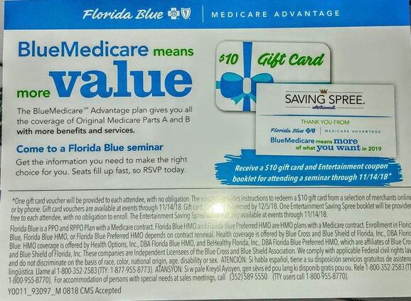 Florida Blue Medicare >> Nov 7 Florida Blue Medicare Advantage Seminar Nextdoor