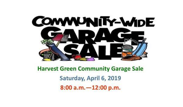 Apr 6 · Harvest Green Spring 2019 Community Garage Sale