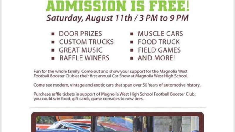 Aug 11 · Magnolia West Booster Club Car Show and Football
