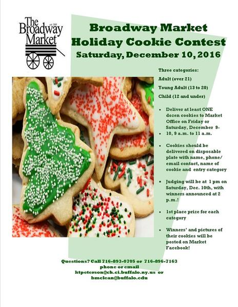 Dec 10 · Annual Broadway Market Christmas Cookie Contest — Nextdoor