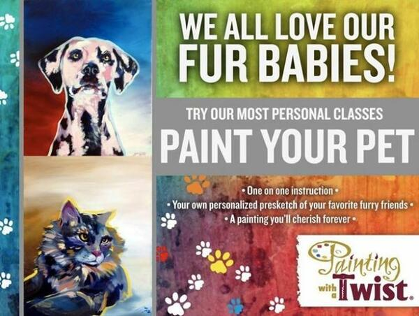 Jan 28 Paint Your Pet We Love Our Animals Nextdoor