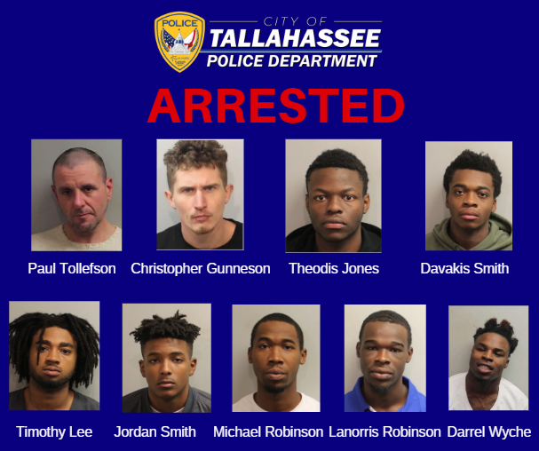 Significant Arrests Made by TPD Patrol This Week