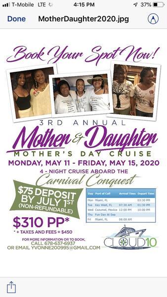 May 11 · Mother and Daughter Cruise — Nextdoor