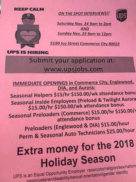 Nov 24 Ups Hiring Event Nextdoor