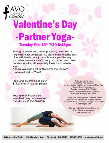 Feb 13 Valentines Day Partner Yoga At Avo Yoga Nextdoor
