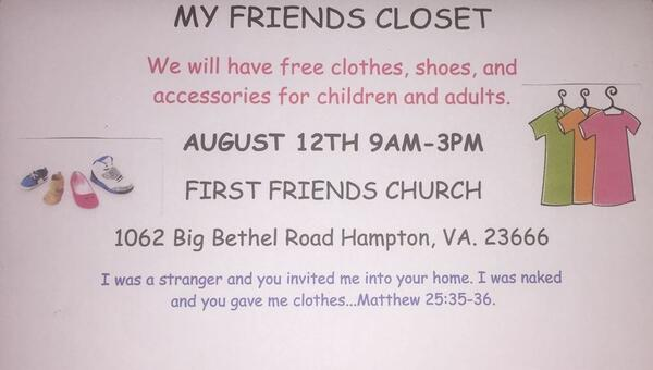 Aug 12 My Friends Closet Free Clothes Giveaway Nextdoor
