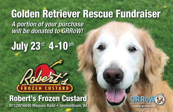 Jul 31 Golden Retriever Rescue Of Wisconsin Fundraiser At Roberts
