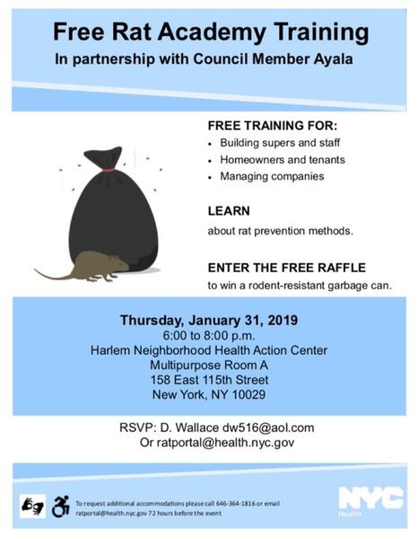 Jan 31 · Free Rat Academy Training in partnership with Council