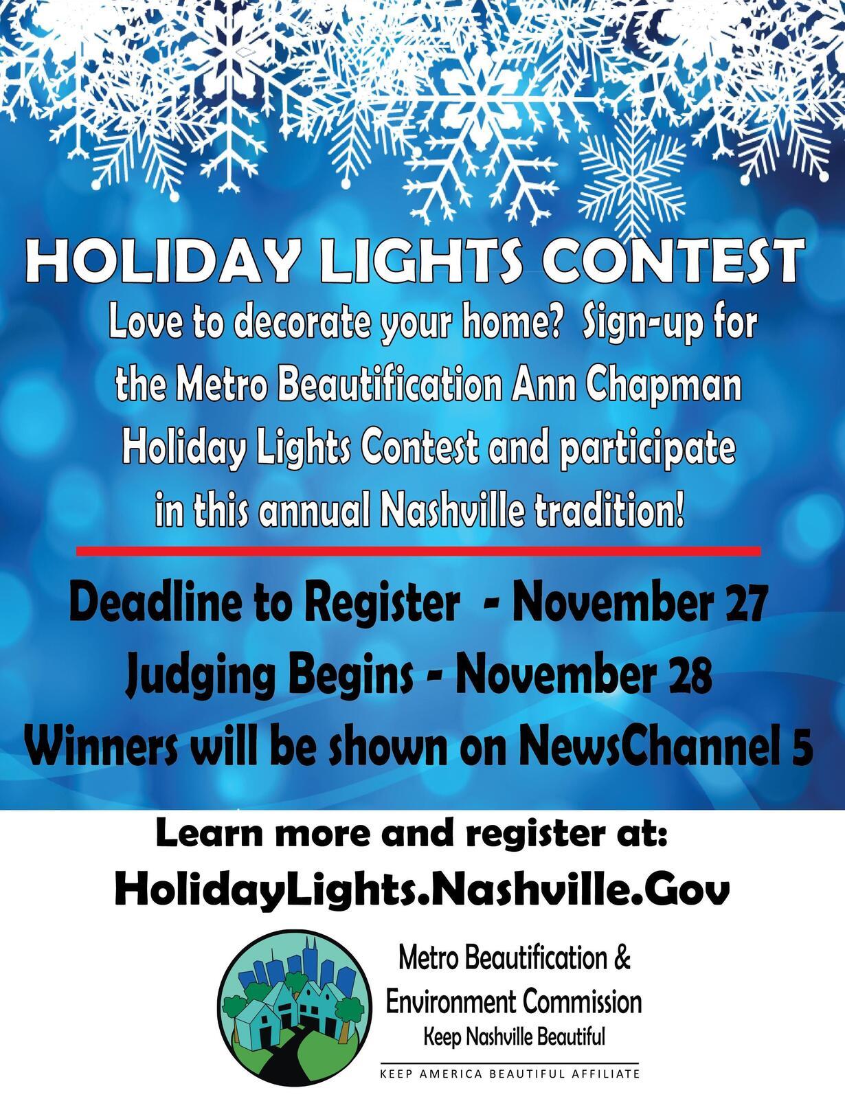 2016 Ann Chapman Holiday Lights Contes (Metro Nashville