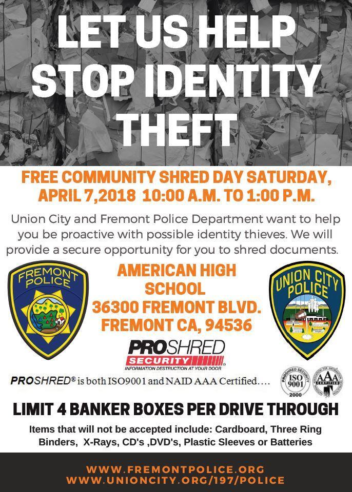 Free Community Shred Day (City of Union City) &mdash