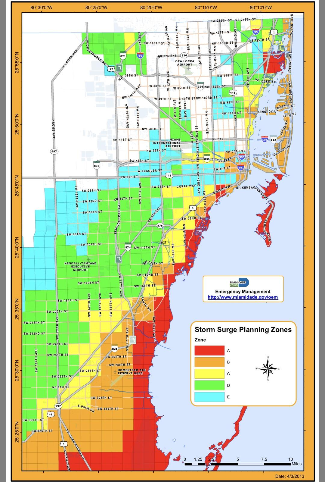 for planning purposes: hurricane evacuation zones and
