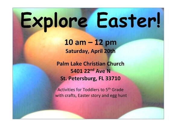 Apr 20 Palm Lake Christian Church Explore Easter Nextdoor