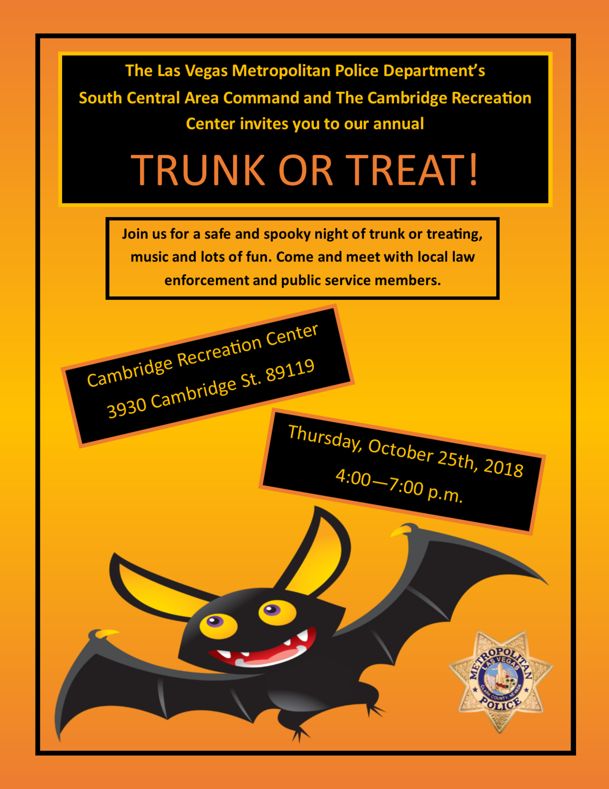 TRUNK OR TREAT!! (Las Vegas Metropolitan Police Department