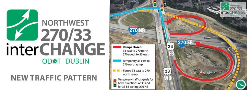 New Traffic Pattern at 270/33 interCHANGE will impact US 33