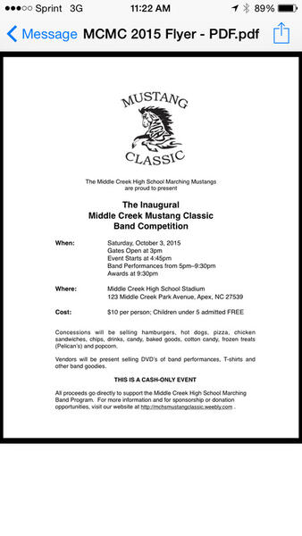 Oct 3 · MCHS Inaugural Mustang Classic Marching Band