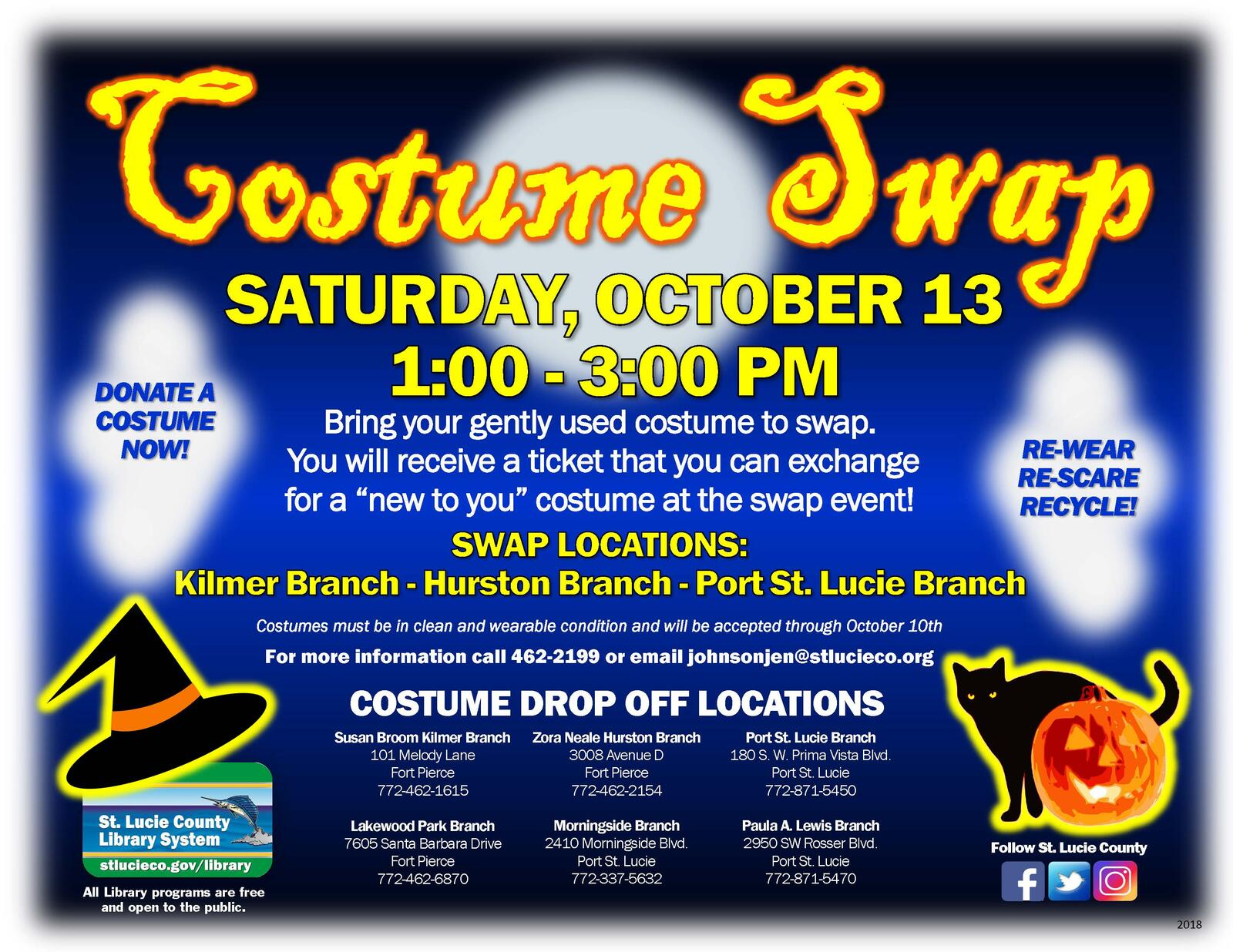 St  Lucie County Libraries Host Halloween Costume Swap Oct  13 (St