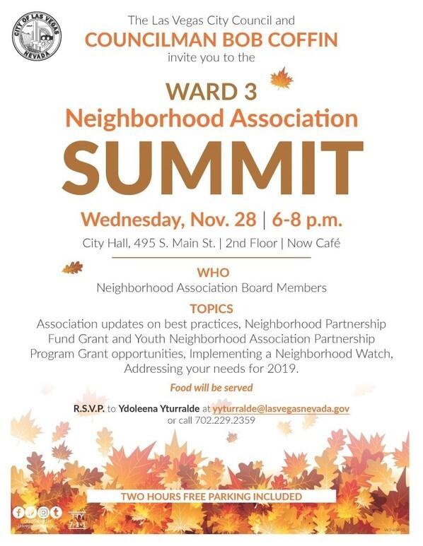 Ward 3 Neighborhood Association Summit (City of Las Vegas) &mdash