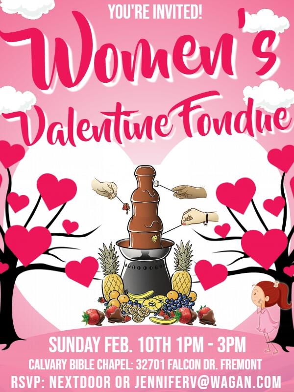 952675ed8af33 Feb 10 · Free Women s Valentine Fondue Event — Nextdoor