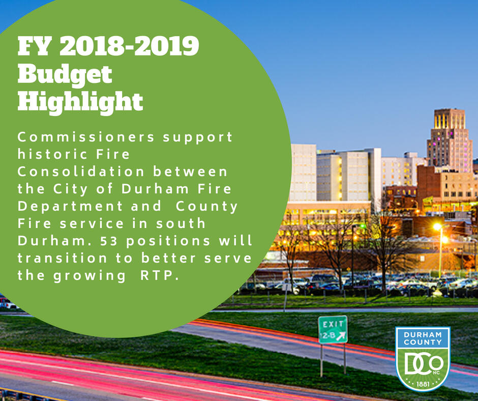 Fy 2018 2019 Budget Highlight Durham County Government Nextdoor