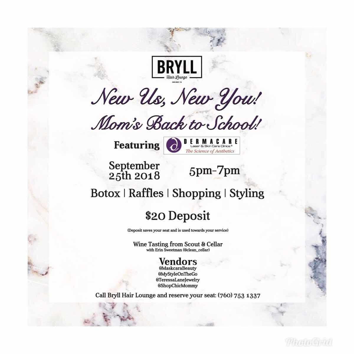 Sep 25 Bryll Hair Lounge Moms Back To School Event Nextdoor