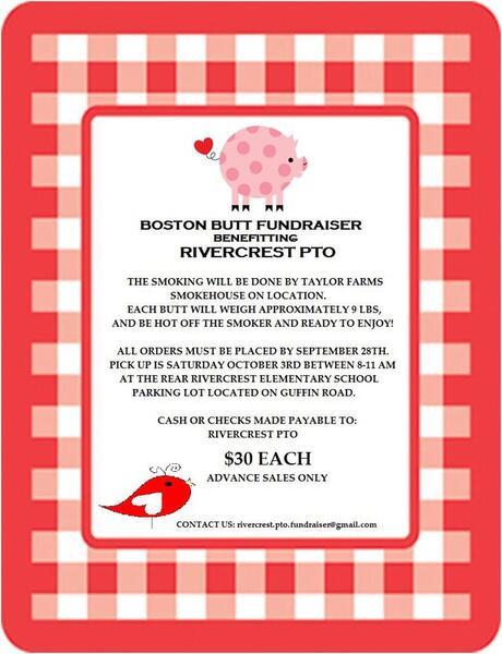 Oct 3 · Rivercrest Elementary PTO Boston Butt Fundraiser