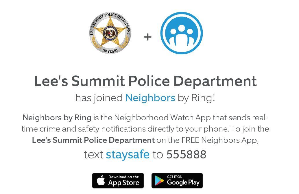 LSPD partners with 'Neighbors' by Ring (Lee's Summit Police
