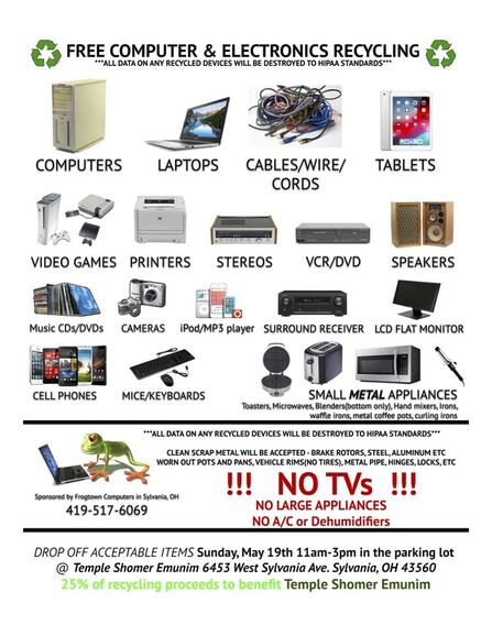 May 19 · Free Computer & Electronics Recycling Event in