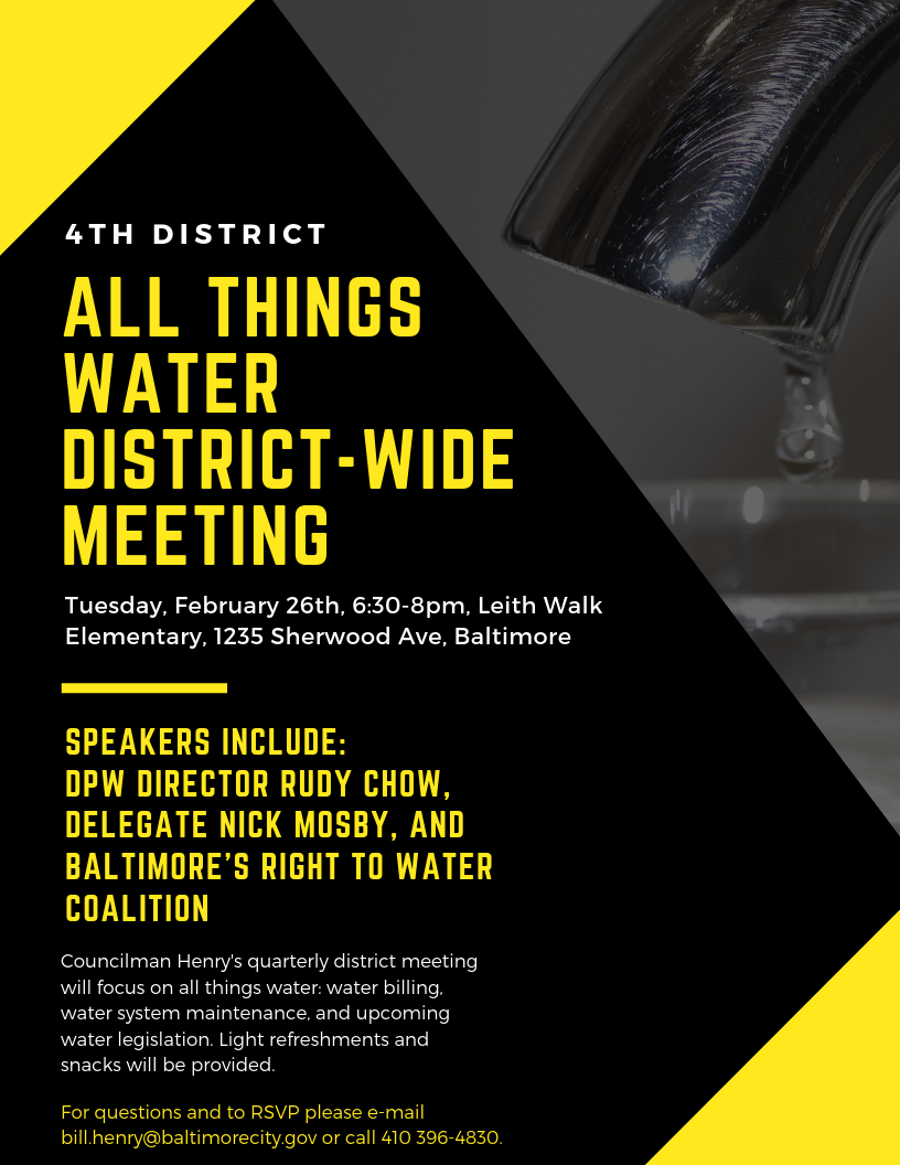 District-Wide Meeting (Baltimore City Council) &mdash