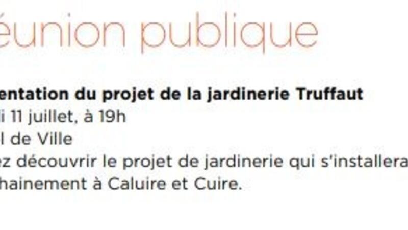 11 Juil 2019 Reunion Publique Sur Le Projet De La Jardinerie