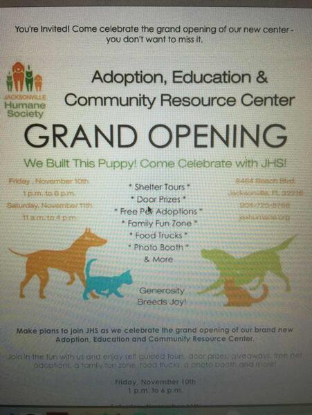 Nov 10 · Jacksonville Humane Society Adoption, Education