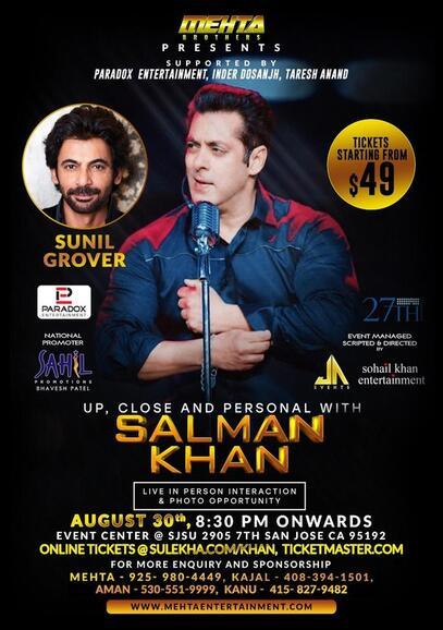 Aug 30 · Evening with Salman Khan and Sunil Grover — Nextdoor