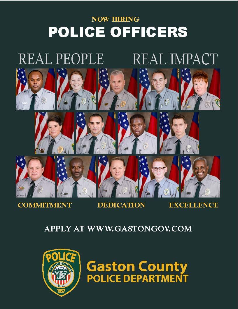 Gaston County Police Department is Hiring (Gaston County