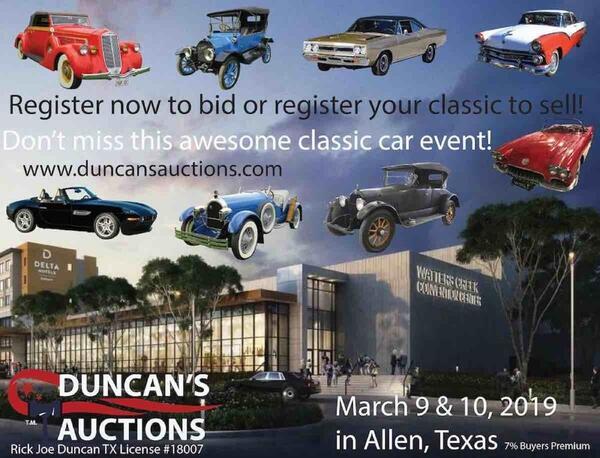 Mar 9 North Texas Classic Car Show Duncan S Auctions Nextdoor