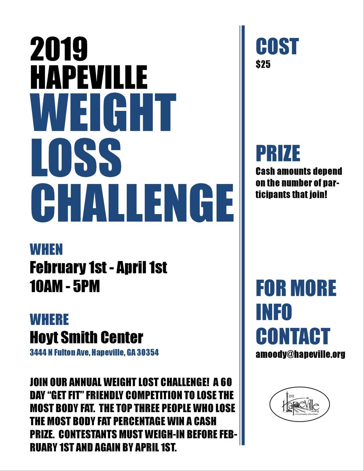Weight Loss Challenge (City of Hapeville) | Nextdoor