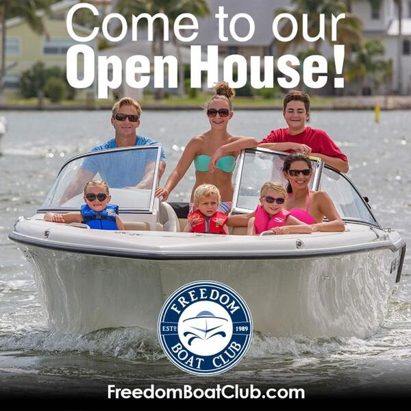 Jun 29 · Freedom Boat Club Open House this Saturday! 9a-1p
