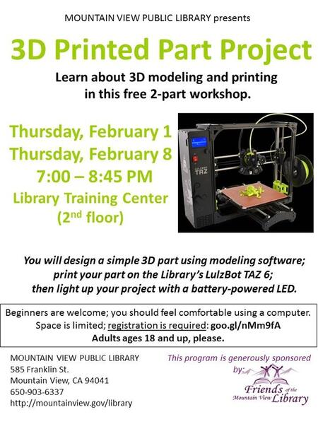 Feb 8 · 3D Printed Part Project — Nextdoor