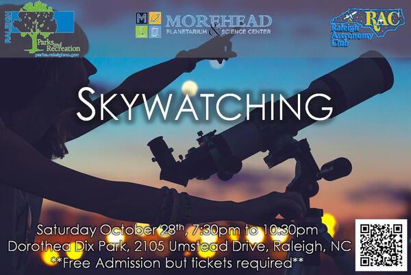 Oct 28 · Explore Dorothea Dix Park - Skywatching — Nextdoor