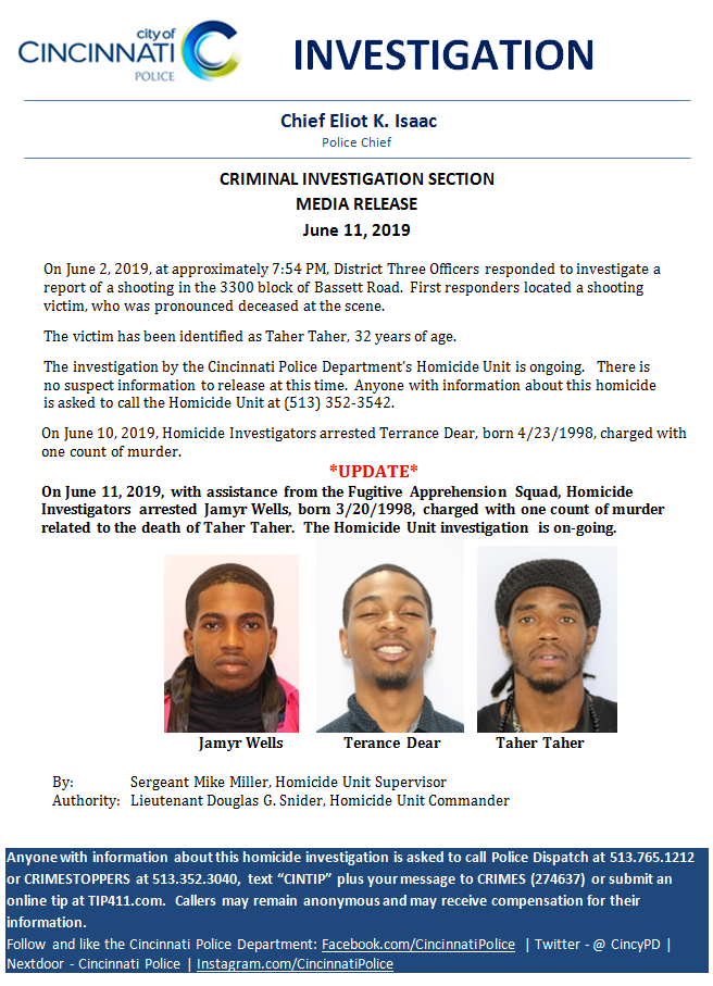 Homicide Arrests (Cincinnati Police Department) &mdash