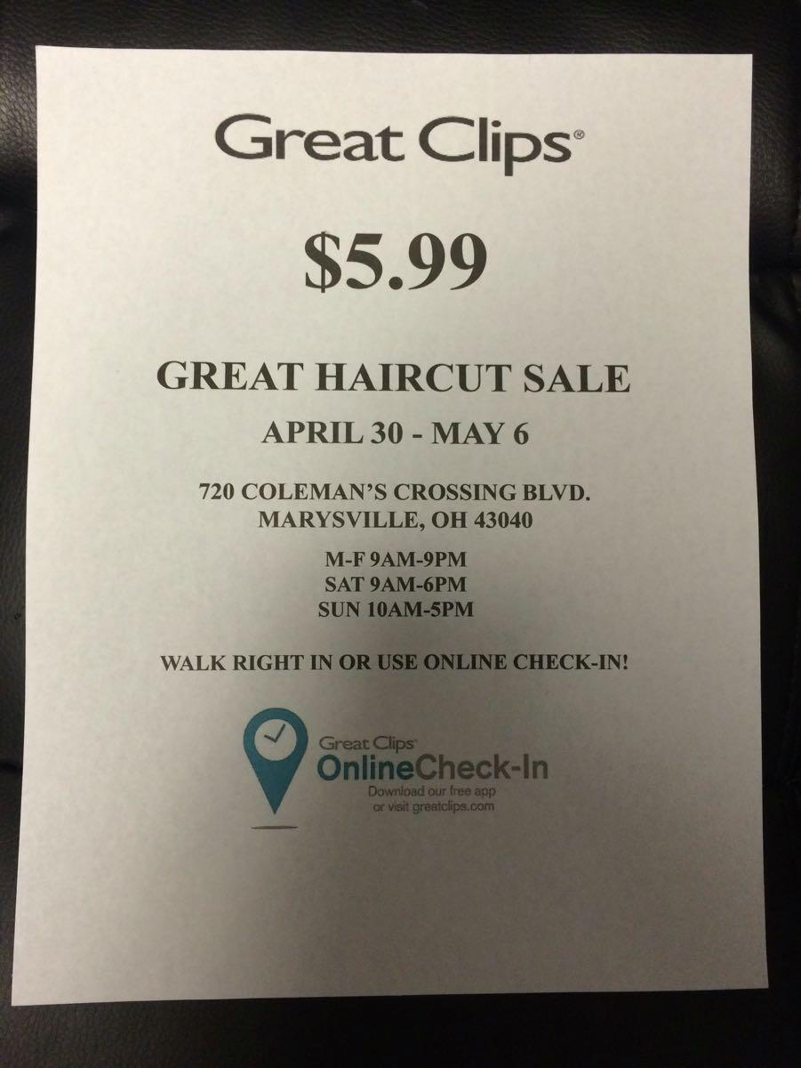 Apr 30 Great Clips 599 Great Haircut Sale Nextdoor