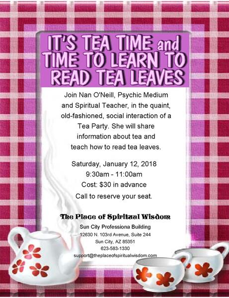 January Tea Party And Leaf Reading