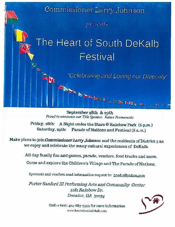 THE HEART OF SOUTH DEKALB FESTIVAL (DeKalb County Police