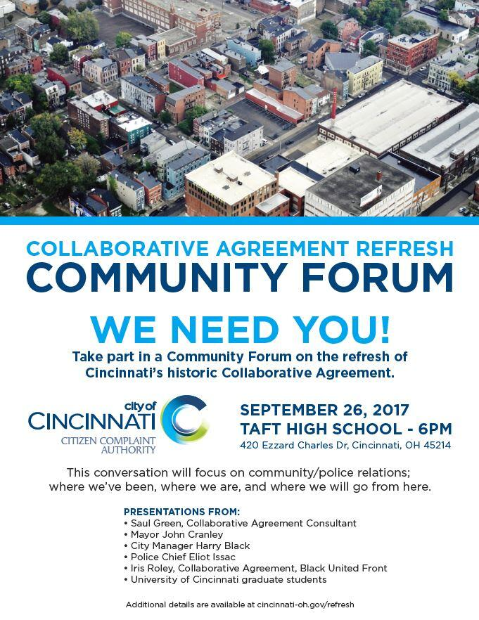 We Need You Collaborative Agreement Refresh Forum City Of