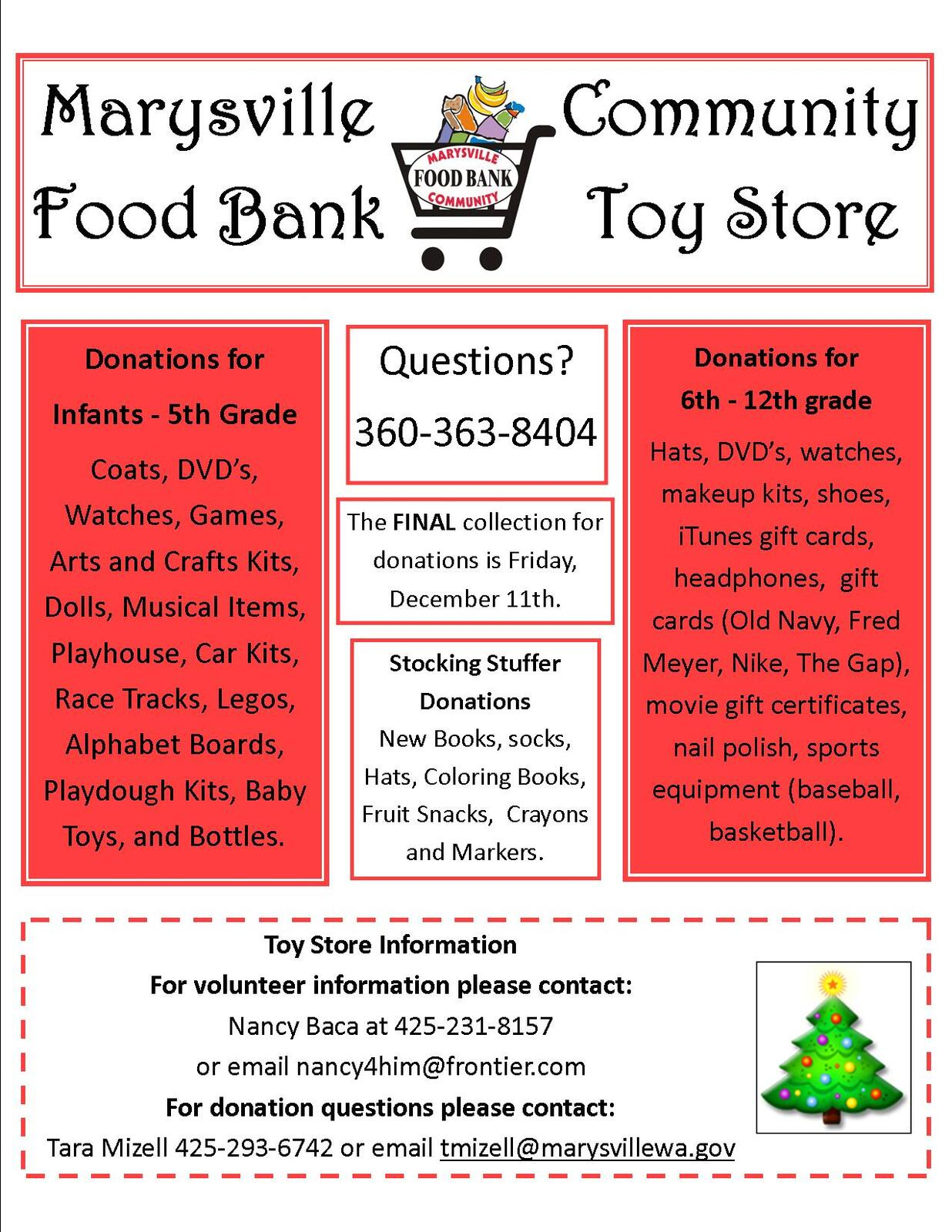 Marysville Food Bank Toy Store City Of Marysville Nextdoor