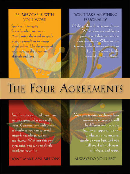 May 11 May Book Club The Four Agreements By Don Miguel Ruiz
